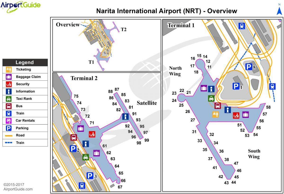 NRT peta bandara - bandara di Tokyo Nrt peta (Kantō - Jepang)